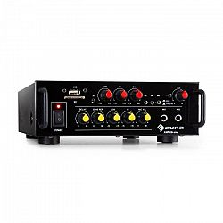 Auna Amp EQ BT, HiFi karaoke zosilňovač, 2 x 30 W RMS, BT, USB, SD, 2 x mikrofónový vstup
