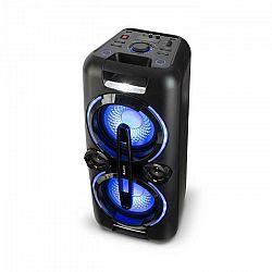 Auna Bazzter, párty zvukový systém, 2 x 50 W RMS, akumulátor, BT, USB, MP3, AUX, FM, LED, mikrofón