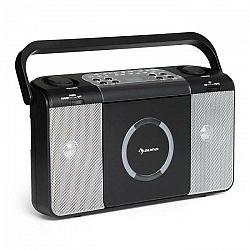 Auna Boomtown USB, boombox, CD prehrávač, FM rádio, MP3, prenosné kufríkové rádio, čierny