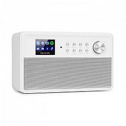 """Auna Connect Link, inteligentné rádio, IR/DAB+/FM, Spotify, BT, 2,4"""" HCC displej, biele"""