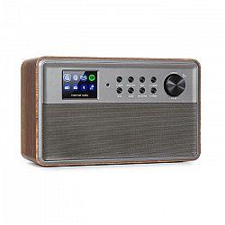 """Auna Connect Link, inteligentné rádio, IR/DAB+/FM, Spotify, BT, 2,4"""" HCC displej, drevo"""
