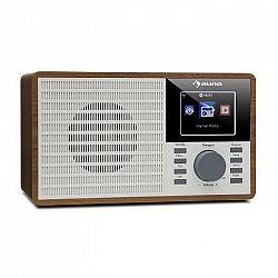 """Auna IR-160, internetové rádio, WLAN, USB, AUX, UPnP, 2,8"""" TFT displej, diaľkový ovládač, hnedé"""