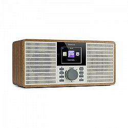 """Auna IR-260, internetové rádio, WLAN, USB, AUX, UPnP, 2.8"""" HCC displej, diaľkový ovládač, drevo"""
