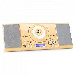 Auna MC 120, stereosystém s MP3, USB, CD, FM, nástenná montáž, krémová farba