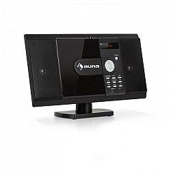 Auna MCD-82 BT, vertikálny stereo systém, DVD/CD, bluetooth, USB/SD, FM, HDMI, čierny