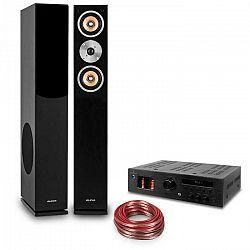 """Auna """"Music Glow"""", HiFi zostava, 2 stĺpové reproduktory + HiFi elektrónkový zosilňovač + kábel"""