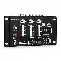 Auna Pro DJ-21 DJ-mixér mixážny pult, USB, čierna farba