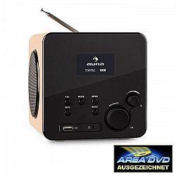 Auna Radio Gaga, internetové rádio, WLAN/LAN, DAB/DAB+, FM, USB, AUX, dub