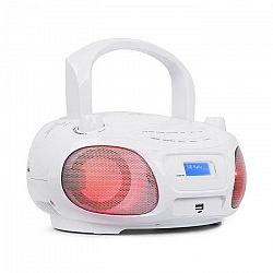 Auna Roadie DAB, CD prehrávač, DAB/DAB+, FM, LED disko svetelný efekt, bluetooth, biela farba