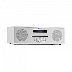 Auna Silver Star CD-FM, rádio s CD, 2 x 20 W max., štrbinový CD prehrávač, FM, BT, Alu, biely