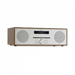 Auna Silver Star CD-FM, rádio s CD, 2 x 20 W max., štrbinový CD prehrávač, FM, BT, Alu, hnedý
