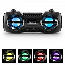 Auna Soundblaster M, max. 50W, boombox s bluetooth 3.0, CD/MP3/USB, FM, LED