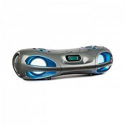 Auna Spacewoofer, boombox, CD prehrávač, FM rádio, bluetooth, diaľkový ovládač, sivý