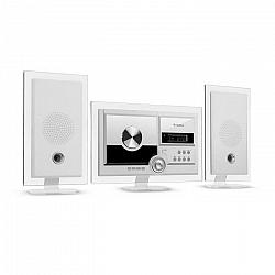 Auna Stereo Sonic, DAB+ stereo systém, DAB+, CD prehrávač, USB, BT, biely