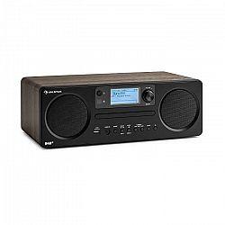 Auna Worldwide CD, internetové rádio, Spotify Connect, ovládanie cez aplikáciu, bluetooth, vlašský orech