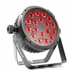 Beamz BT320 LED Flat Par, LED reflektor, 18 x 6 W 4 v 1 LED diód s RGBW, diaľkový ovládač