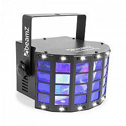 Beamz LED Butterfly 3x3W RGB + 14xSMD Strobe, režim ovládania pomocou hudby alebo automatický režim