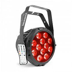Beamz professional BWA412 Aluminium IP65 LED Par, 12 x 18 W 6v1 LED diód RGBWA-UV