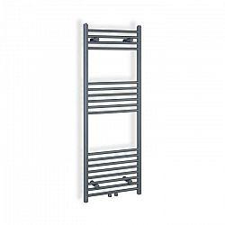 """Besoa Fino 120 x 45, radiátor, 387 W, teplá voda, držiak na uteráky, 1/2"""", 4 – 8 m², sivý"""