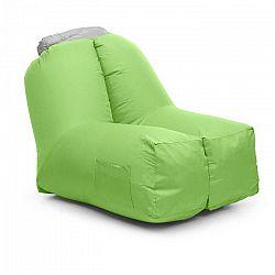 Blumfeldt Airchair, nafukovacie kreslo, 80 x 80 x 100 cm, ruksak, prateľné, polyester, zelené