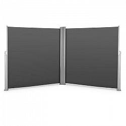 Blumfeldt Bari Doppio 620, dvojitá bočná markíza, 6 x 2 m, hliník, antracitová