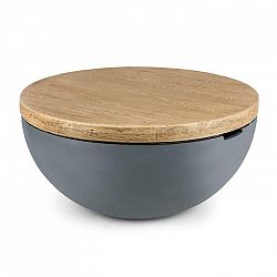 Blumfeldt Blockhouse Lounge, betónový stôl, záhradný stôl, okrúhly, 80 x 40 cm (Ø x V)