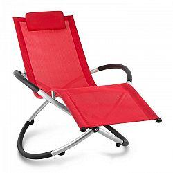 Blumfeldt Chilly Billy, záhradné lehátko, relaxačné kreslo, hliník, červené