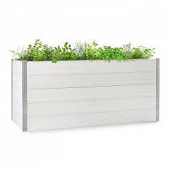 Blumfeldt Nova Grow, záhradný záhon, 195 x 91 x 100 cm, WPC, drevený vzhľad, biely
