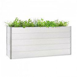 Blumfeldt Nova Grow, záhradný záhon, 195 x 91 x 50 cm, WPC, drevený vzhľad, biely