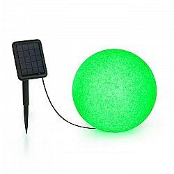 Blumfeldt Shinestone Solar 30, guľová lampa, solárny panel, Ø 30 cm, RGB-LED, IP68, akumulátor