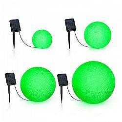 Blumfeldt Shinestone Solar, sada guľových lámp, 4 kusy, solárny panel, RGB LED, IP68