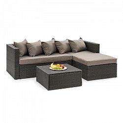 Blumfeldt Theia Lounge Set, záhradná sedacia súprava, čierna/hnedá