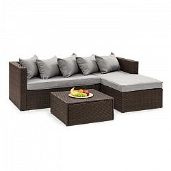 Blumfeldt Theia Lounge Set, záhradná sedacia súprava, hnedá/svetlosivá