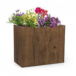 Blumfeldt Timberflor, kvetináč, 60 x 50 x 30 cm, sklolaminát, do interiéru aj exteriéru, hnedý