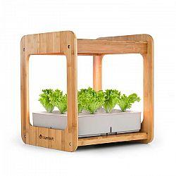 Blumfeldt Urban Bamboo, hydroponický rastlinný systém, 12 rastlín, 24 W LED, 7 litrov, bambus