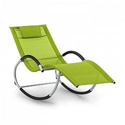 Blumfeldt Westwood, hojdacie ležadlo, ergonomické, hliníkový rám, zelené