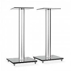 Electronic-Star BS58, dvojica reproduktorových stojanov, design, sklo, hliník
