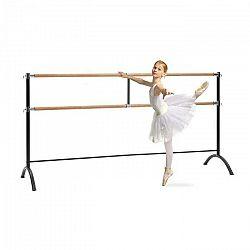 KLARFIT Barre Marie, dvojitá baletná tyč, voľne stojaca, 220 x 113 cm, 2 x 38 mm Ø