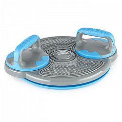 KLARFIT Klartwist, modrý, rotačný disk, 3 v 1 balančná podložka, držiak pre kliky