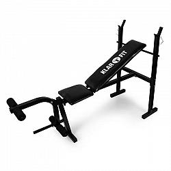 KLARFIT lavica na činky, tréningová lavica, posilňovač nôh