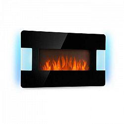 Klarstein Belfort Light & Fire, elektrický krb, 1000/2000 W, diaľkový ovládač, čierny