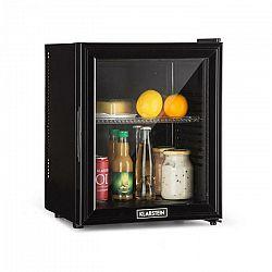 Klarstein Brooklyn 24L, chladnička, A, LED, plastová polica, sklenené dvere, čierna