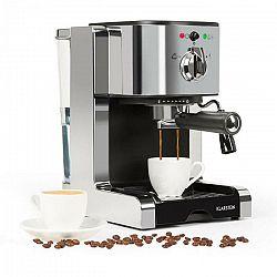 Klarstein Passionata 20 kávovar na výrobu espressa, 20 bar, cappuccino, mliečna pena, strieborná farba