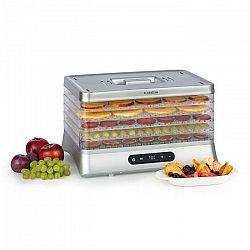 Klarstein Silver, sušička potravín, 500 W, LED displej, bez BPA, 35 – 70 °C, strieborná