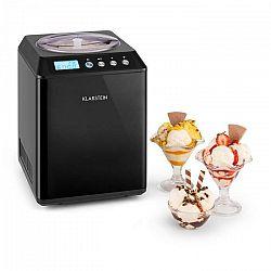 Klarstein Vanilly Sky Family, výrobník zmrzliny a mrazeného jogurtu, zmrzlinovač, 250W, 2,5 l, čierny