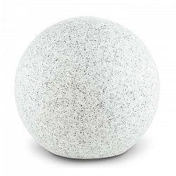 Lightcraft Shinestone M, záhradné svietidlo, guľovité, 30 cm, vzhľad kameňa