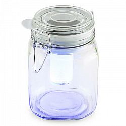 OneConcept Wetterfrosch, LED svetlo, zavárací pohár, solárne, akumulátor, žlté/modré