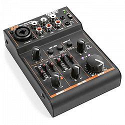 Power Dynamics PDM-D301, 3-kanálový mixážny pult, USB mixážny pult, fantómové napájanie