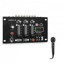 Resident DJ DJ-21, mixážny pult, sada, USB, mikrofón, čierny
