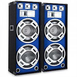 Skytronic Pár 38 cm PA reproduktorov, modrý svetelný efekt, 2 x 1000 W